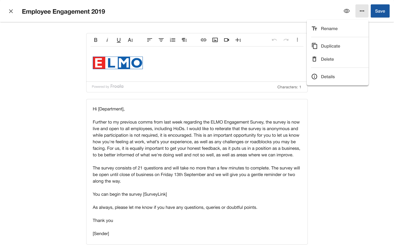 elmo-survey-email-template-editor