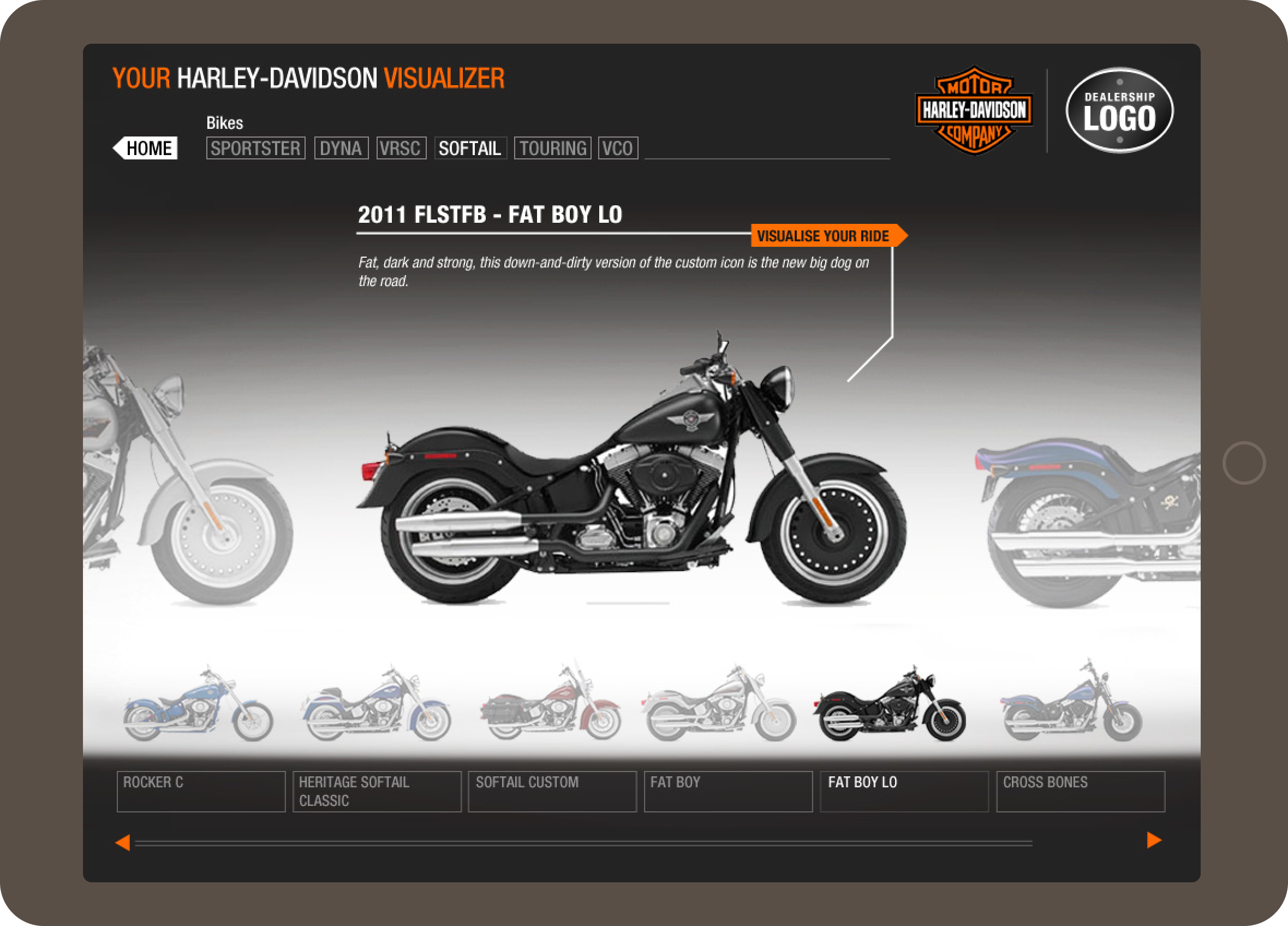 harley-davidson-visualizer-bike-selection